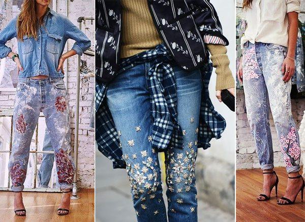 Украшайте и раскрашивайте джинсы своими руками, и хвастайтесь в инстаграме
