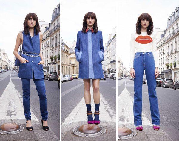 Модные джинсы, платье из денима и джинсовый костюм Sonia Rykel лето 2016