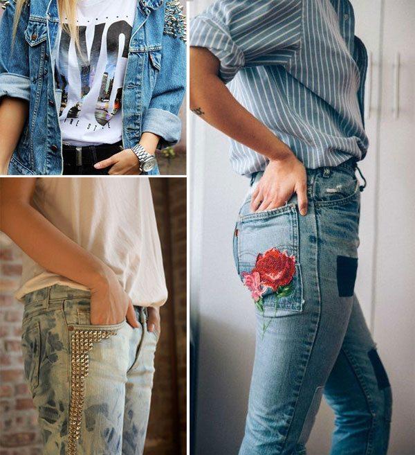 Как украсить джинсы и джинсовый жакет? - Ответ есть!