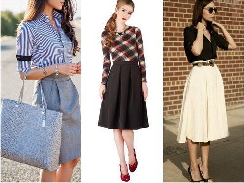 Классическая юбка - прямая или расклешенная