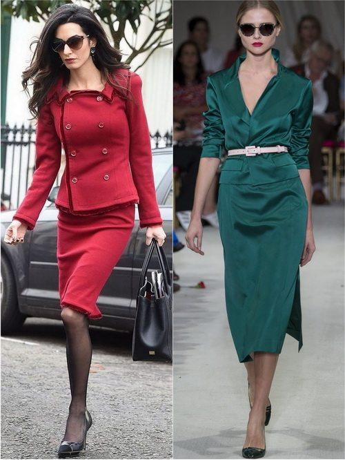 Одежда в классическом стиле может быть и ярких цветов