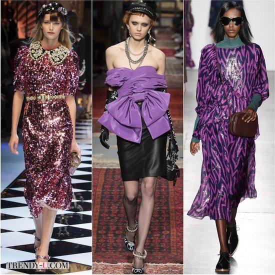Модный осенью-зимой 2016-2017 цветФуксии: Dolce&Gabbana, Moschino, Karen Walker