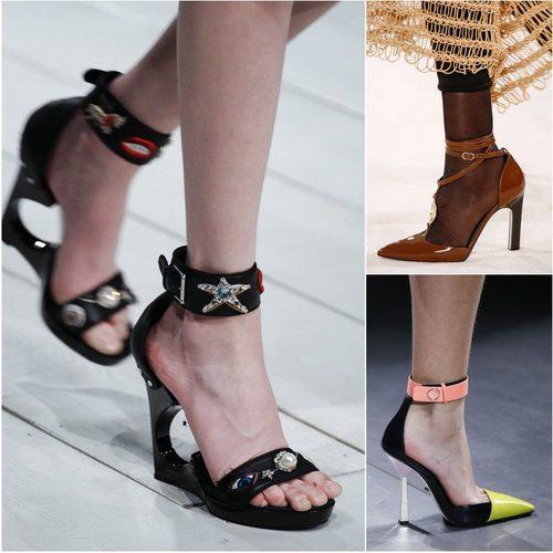 Осенью-зимой 2016-2017 в моде обувь с ремешком на щиколотке: Alexander McQueen, Loewe, Versace
