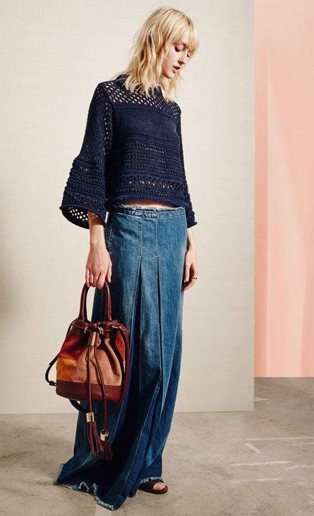 Длинная джинсовая юбка 2016 от See by Chloe