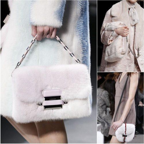 Модные меховые сумки в коллекциях осень-зима 2016-2017 Versace, Alexander McQueen, Jason Wu