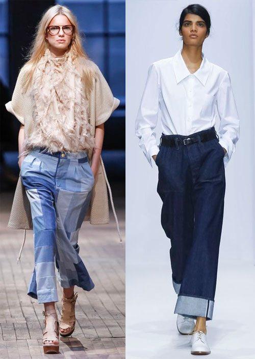Модные джинсы осень 2016 от Margaret Howell (справа)