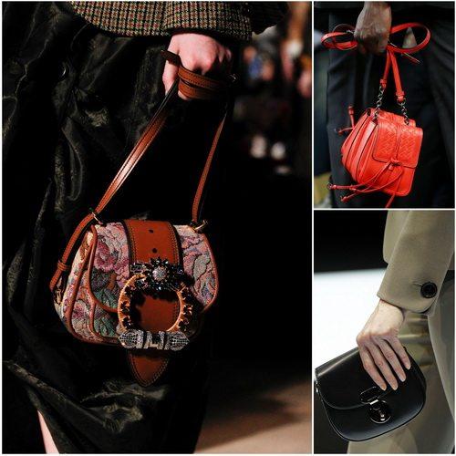 Носите клатчи в руках, как предлагают Miu Miu, Bottega Veneta и Giorgio Armani