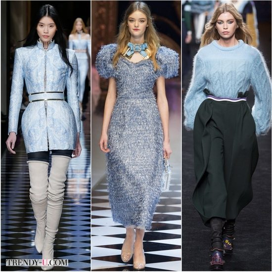 Голубой Airy Blue в показах Balmain, Dolce&Gabbana, Fendi