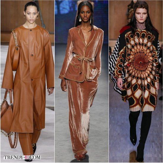 Цвет Гончарной глины в моде осенью-зимой 2016-2017: коллекции Loewe, Alberta Ferretti, Givenchy