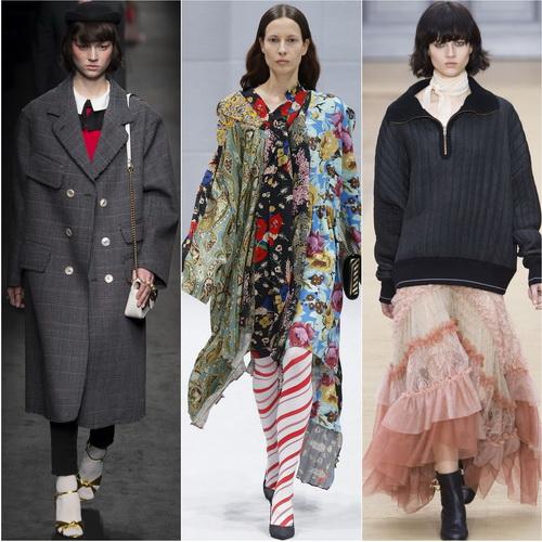 Gucci, Balenciaga и Chloe предлагают оверсайз в качестве тренда осенью-зимой 2016-17