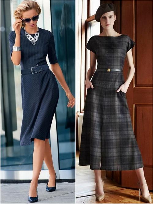 Строгое платье в классическом стиле