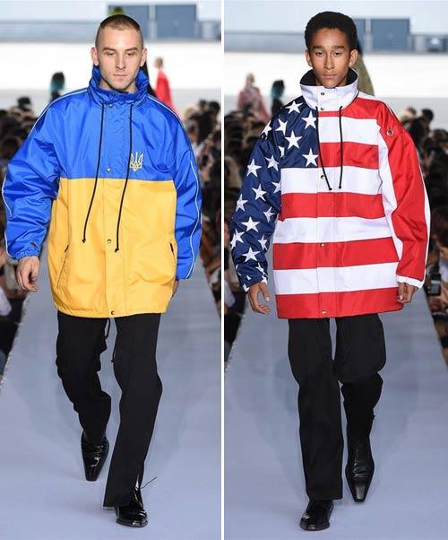 Мужская одежда Vetements с национальной символикой