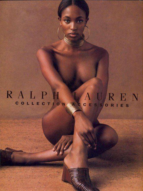 Наоми Кэмпбелл на съемках для Ralph Lauren