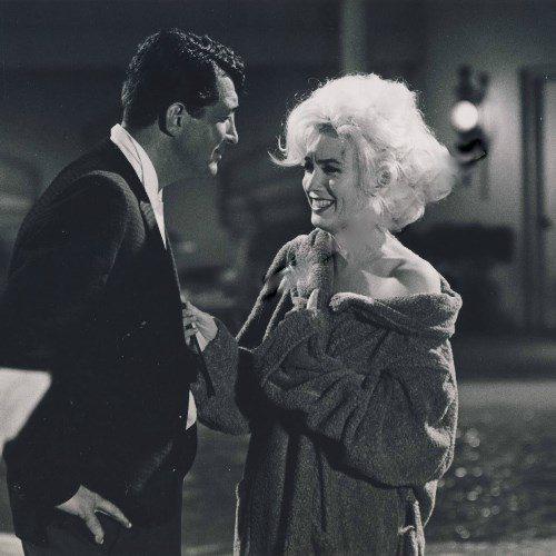 Мэрилин Монро на съемках последнего своего фильма «Что-то должно случиться»