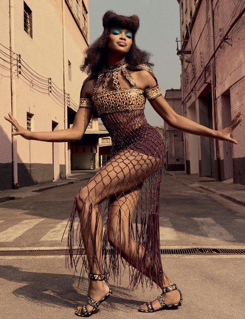 Наоми Кэмпбелл в майском номере бразильского Vogue, 2016 г.