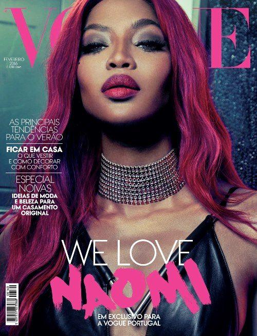 Наоми Кэмпбелл на обложке февральского номера Vogue (2016 год)