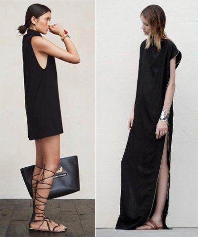 Модницы выбирают черный цвет в одежде