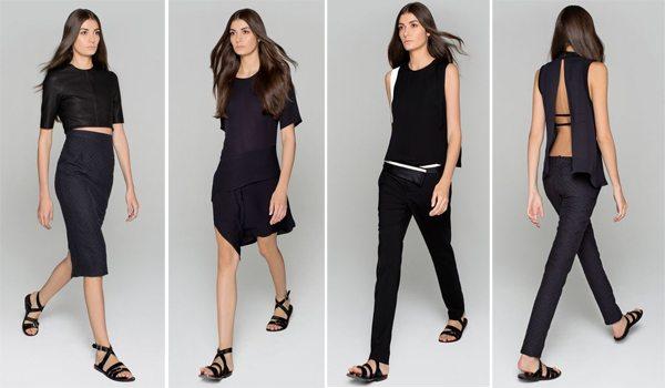 Образы в стиле минимализм + черный цвет в одежде