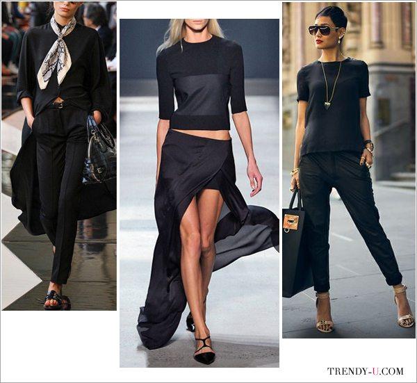Черный цвет в одежде создан для стильных образов