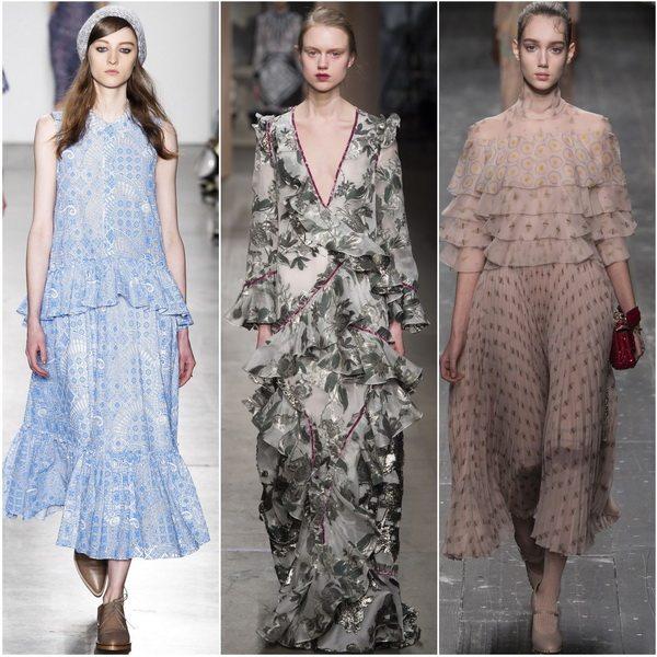 Осень-зима 2016-2017: романтичные платья Karen Walker, Erdem, Valentino