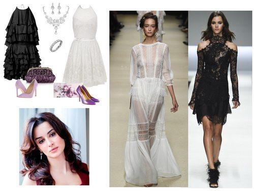 Летом 2016 белый цвет и бельевой стиль на пике популярности. Справа платья Alberta Ferretti и Ermanno Scervino