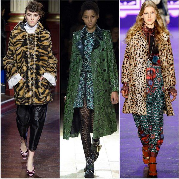Модный осенью-зимой 2016-2017 животный принт: пальто от Kenzo, Burberry, Anna Sui