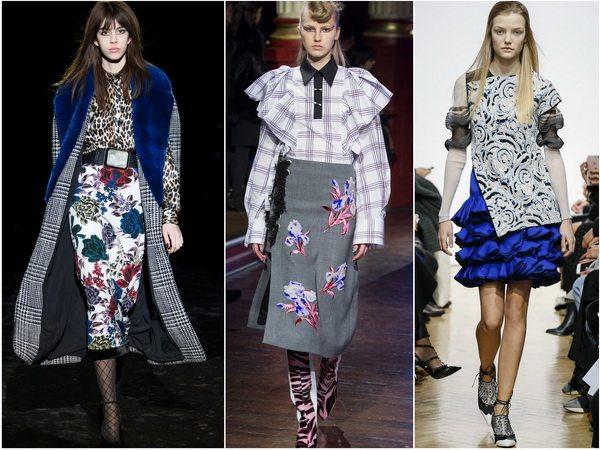 Романтика в тренде: юбки с цветочным рисунком и оборками в коллекциях осень-зима 2016-17 Emanuel Ungaro, Kenzo, J.W.Anderson