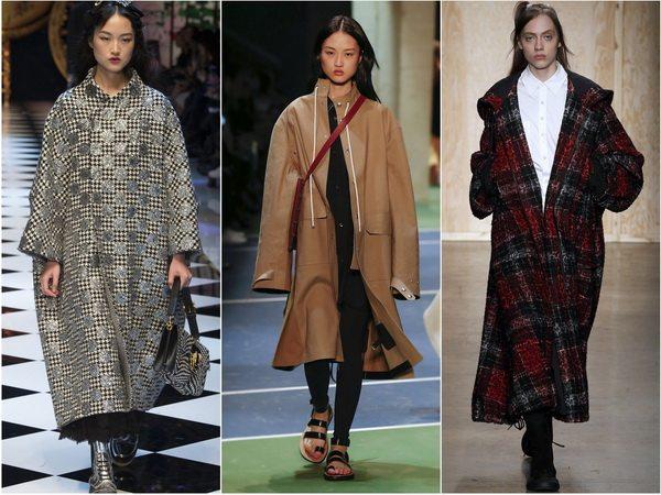Пальто оверсайз - тренд сезона осень-зима 2016-2017: Dolce&Gabbana, Celine, DKNY
