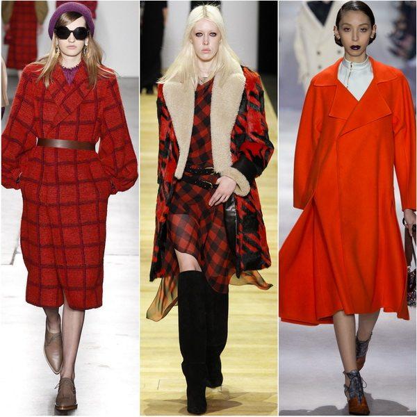 Сезон осень-зима 2016-2017 от Karen Walker, Barbara Bui, Christian Dior: в моде пальто алого цвета