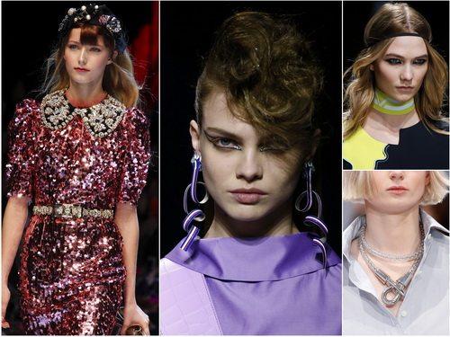 Необычные украшения актуальны осенью-зимой 2016-2017: Dolce&Gabbana, Kenzo, Versace, Balenciaga