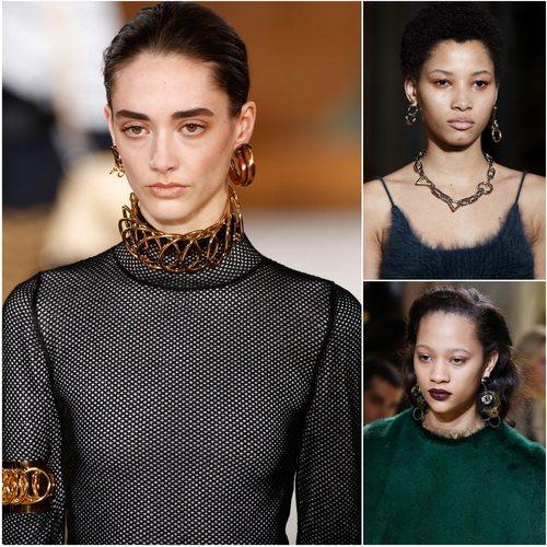 Украшения на основе колец в моде в сезоне осень-зима 2016-2017: Loewe, Alexander Wang, Marni