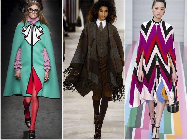 Кейпы и накидки - тренд сезона осень-зима 2016-2017: Gucci, Ralph Lauren, Salvatore Ferragamo