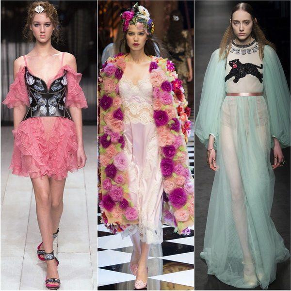 Осенне-зимняя мода 2016-2017 на соблазнительные платья от Alexander McQueen, Dolce&Gabbana, Gucci
