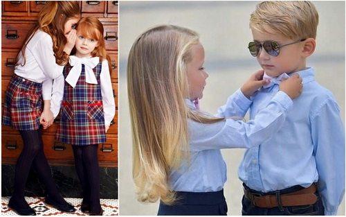 Стиль преппи в детской моде выглядит очаровательно