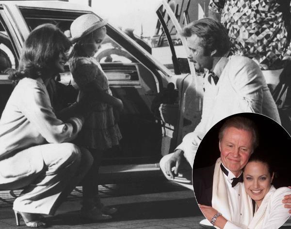 Семья Джоли: маленькая Энджи с родителями в фильме «В поисках выхода» (внизу с отцом)