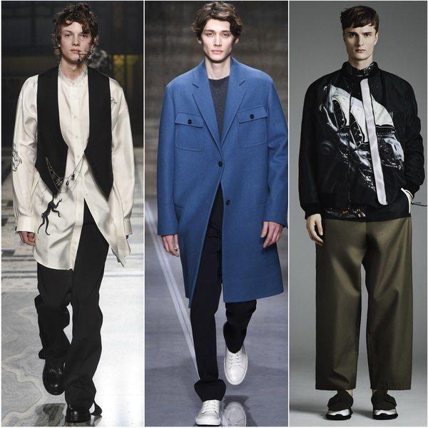 Осенью-зимой 2017-17 в моде мужская одежда в стиле оверсайз: Alexander McQueen, Marni, Christopher Kane
