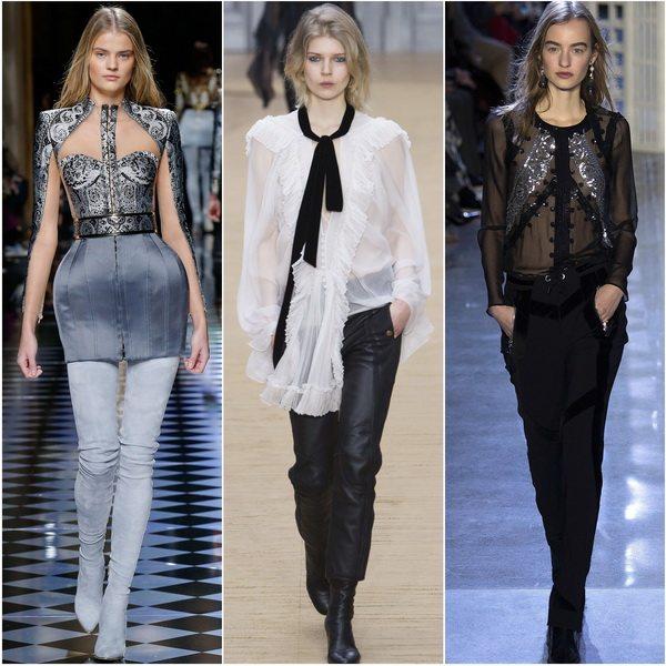 Модные блузки в бельевом стиле осень-зима 2016-2017: Balmain, Chloe, Altuzarra