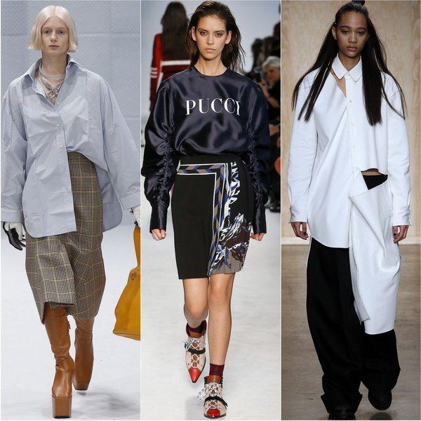 Balenciaga, Emilio Pucci, DKNY: в моде рубашки оверсайз осень-зима 2016-17