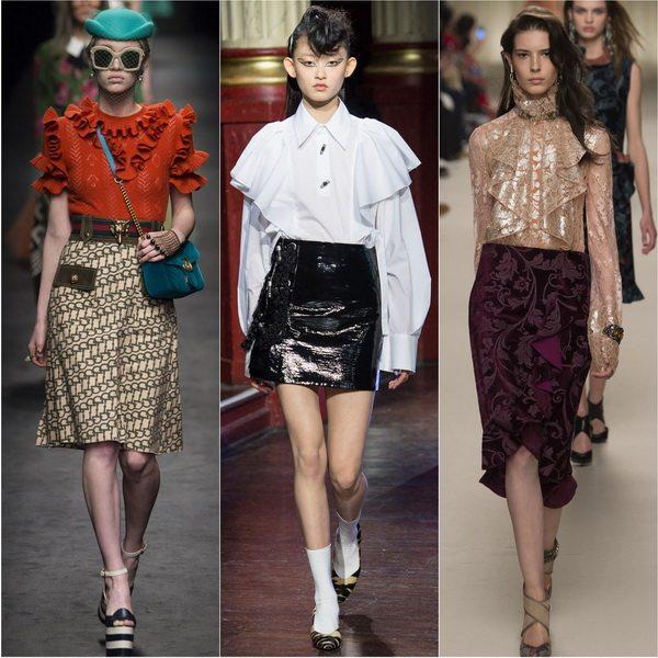 Модные блузки зима 2016-2017: романтика от Gucci, Kenzo, Lanvin