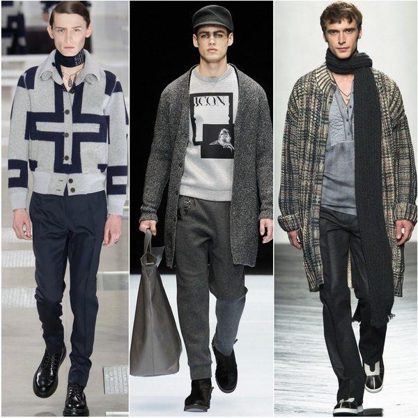 Louis Vuitton, Emporio Armani, Bottega Veneta предлагают мужчинам носить вязаное осенью-зимой 2016-2017