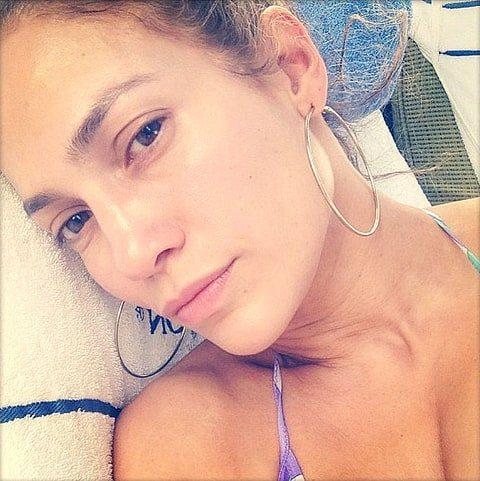 Дженнифер Лопес без макияжа в Инстаграм