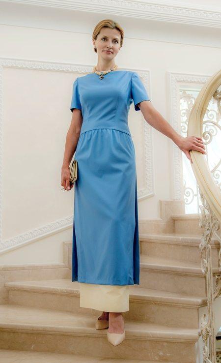 Платье для торжественной части инаугурации сшила для Марины Порошенко Лилия Пустовит