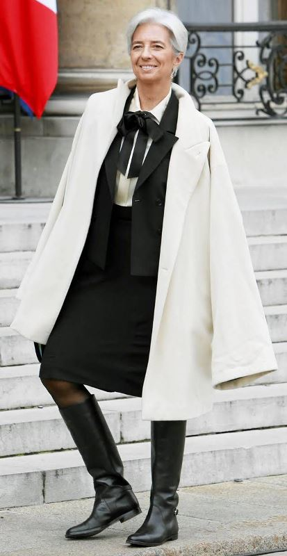 Стиль зрелой и успешной французкой женщины: Кристин Лагард