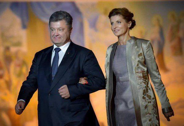 Марина Порошенко (2016 год) с Петром Порошенко