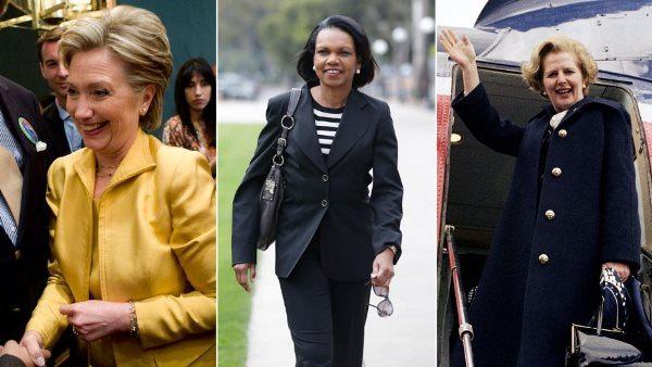 Хиллари Клинтон, Кондолиза Райс и Маргарет Тэтчер одеваются в стиле power dressing