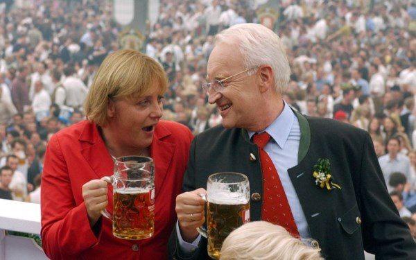 Ангела Меркель представляет собой типичную немку и, как многие немцы, очень любит пиво