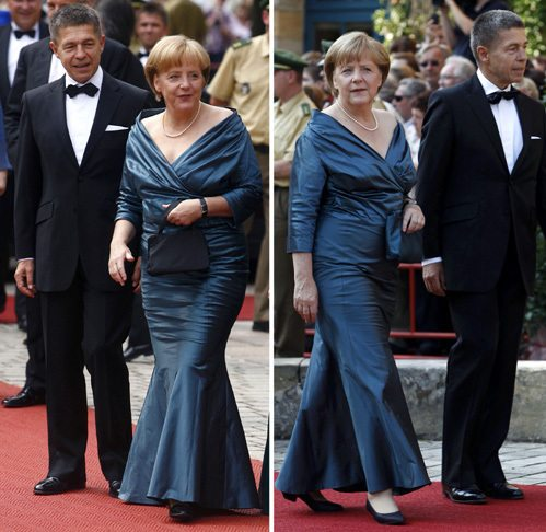 Ангела Меркель в вечернем платье