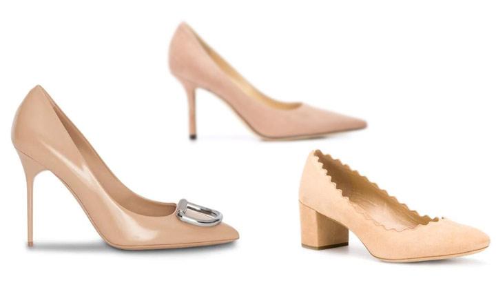 Бежевые туфли-лодочки в базовом женском гардеробе