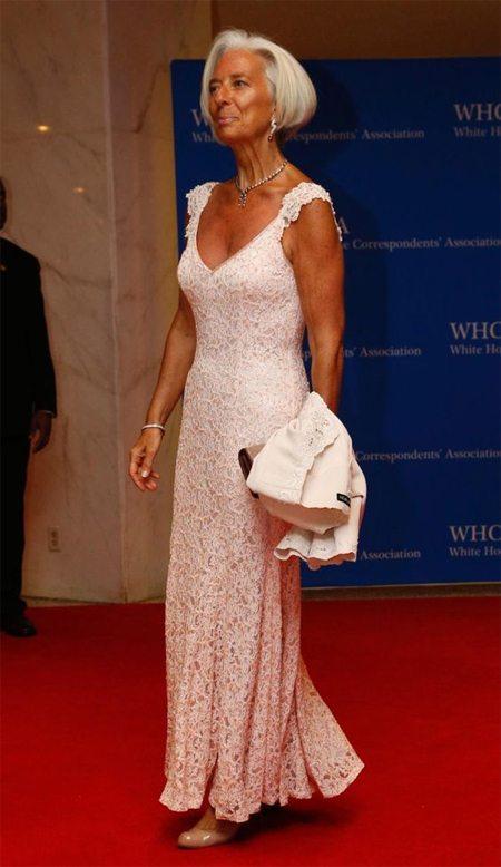 Стиль зрелой женщины: вечернее платье успешного политика Кристин Лагард