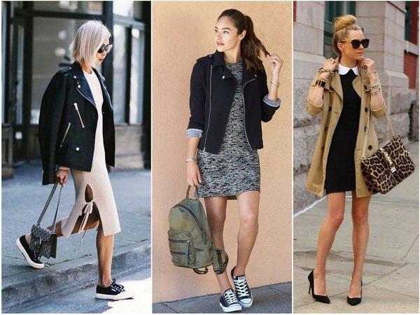 Капсульный гардероб на осень: комплекты из платья и куртки или тренча